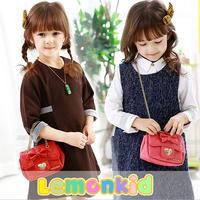 2014 New lemonkid Fashion sweet Children shoulder bag Metal chain high-grade pu Kids Handbag Girls Messenger Bag 24316#