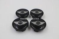 Black Mini cooper Logo Wheel Center Hub Caps For Mini 54mm free shipping 100pcs