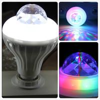 E27 RGB Colorful Effect Rotating Mini Round LED bulbs Crystal Magic Ball Stage Light Lamp for DJ Party Disco Bar KTV Lighting