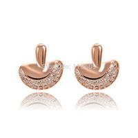 Novelty designer rhinestone earrings for women earing brand wholesale Christmas gift