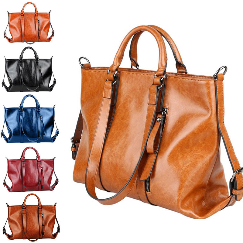 Women's large leather handbags – New trendy bags models photo blog