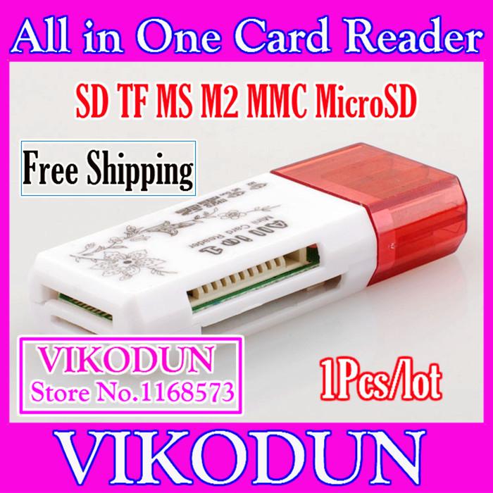 usb hub lot cartao de memoria 64gb lector de tarjetas carte mémoire m2 adapter usb micro sd tf m2 ms mmc Cardreader(China (Mainland))