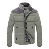 wholesale price men's wadded jacket 2014 autumn and winter stand collar male winter outerwear cotton-padded down-jacket male