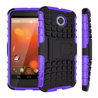 High quality  Hybird  heavy duty silicone shockproof protective case with stand for Motorala MOTO X+1  XT1097 free ship