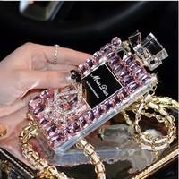 Perfume Bottle Rhinestone Case for iPhone 6 6 Plus 5s 4s Fashion Designs