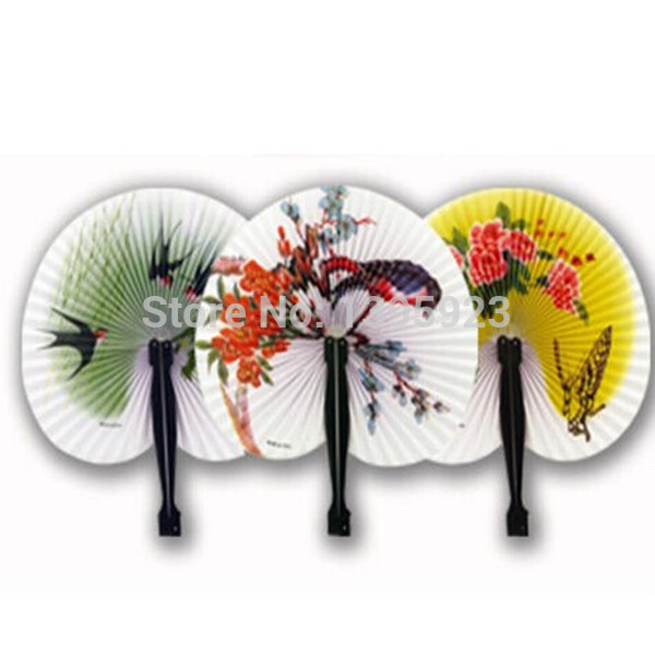 1pc Chinese Paper Folding Hand Fan Oriental Floral Fancy Party Wedding Favors Gifts(China (Mainland))
