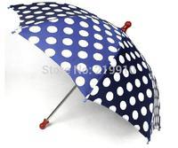 Free Shipping Round dot umbrella blue --Magic Trick, Fun Magic, Party Magic.