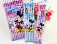 Brand designer HB pencil black lead core rubber cartoon pencils pupils 48pcs / lot high quality retail wholes Free Shipping
