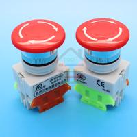 2pcs Emergency Stop Switch Push Button Mushroom Push Button