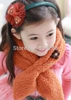 2014 New Winter children fluffy warm scarf Cute little flower girl fashion scarf wholesale