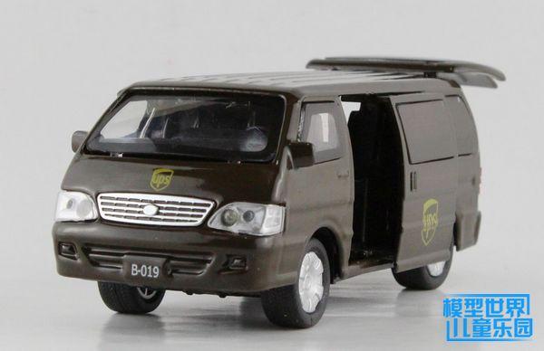 Free shipping Dark Khaki The car model of children's toy car acousto-optic version of student school bus van Delica(China (Mainland))
