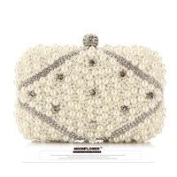2014 New ! Fashion Women Pearl Evening Bag Diamond Clutch Gorgeous Bridal Bag Women Clutch Bags /Handbags Free Shipping