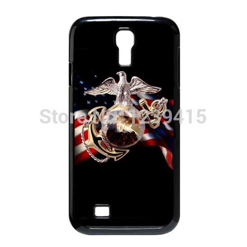 Sublimation Printed Customized USMC US Marine Corps Hard Plastic Case Cover for Samsung Galaxy S4 S IV i9500 -14092701(China (Mainland))