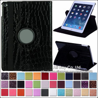 Wholesale 200PCS Crocodile Case For iPad Air 2  Case 360 Degree Rotating Stand Case For iPad Air2 (2014 release)
