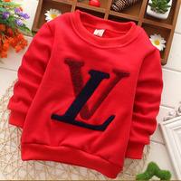 2015 Spring boys sweatshirt children's letter design pullover Christmas gift free shipping