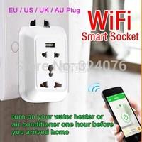 Smart Wifi Plug Socket, Remote Control Plug Socket, Intelligent Smart Device, EU/UK/US Socket Plug, Andoid  Phone App