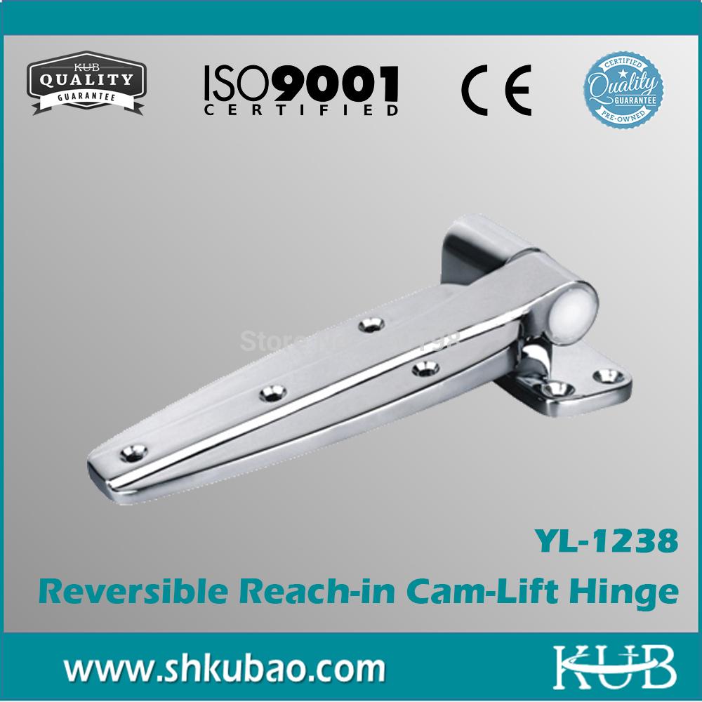 Wholesale Hardware Reversible Reach-in Plane Hinge High pressure Die-cast Zinc YL-1238 cold room Door Hinges(China (Mainland))