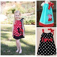 summer girls clothing 3~7 years minne mouse / peppa pig / polka girl dress cartoon princess beach dress
