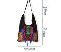 Free shipping Yunnan ethnic customs bottom ethnic canvas  embroidered canvas shoulder lady style handbag design messenger bag