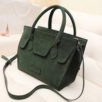 Hot Fashion vintage nubuck leather smiley women handbags shoulder bag messenger bags Tote Desigual Bolsas
