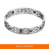 Korean Titanium Steel Magnetic Stones health Bracelet (MATE B169)