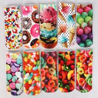 Free NEW 3D Printed Unisex Cute Low Cut Ankle Socks Multiple Colors Harajuku Style Delicious little dessert socks bestselling