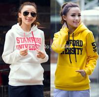 Free Shipping Women Hoodies Spring Autumn Sportswear Letter Print Sweatshirt Girly Female Hoody Plus Size
