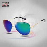 2014 New Cool Fashion Sunglasses Men glasses Metal Frame Sport Cycling Glasses Thin Leg oculos de sol masculino Drop Shipping