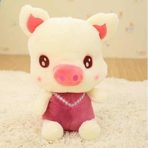 Aprendizagem brinquedos do bebê educação Porco encantador almofadas travesseiro boneca de brinquedo de pelúcia (30cm H), dos desenhos animados bonitos da boneca de brinquedo de pelúcia(China (Mainland))