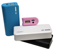 Wallet style 5600mah power bank With LED Lighting mobile Power Battery External Battery Pack with usb cable +retail box 100sets