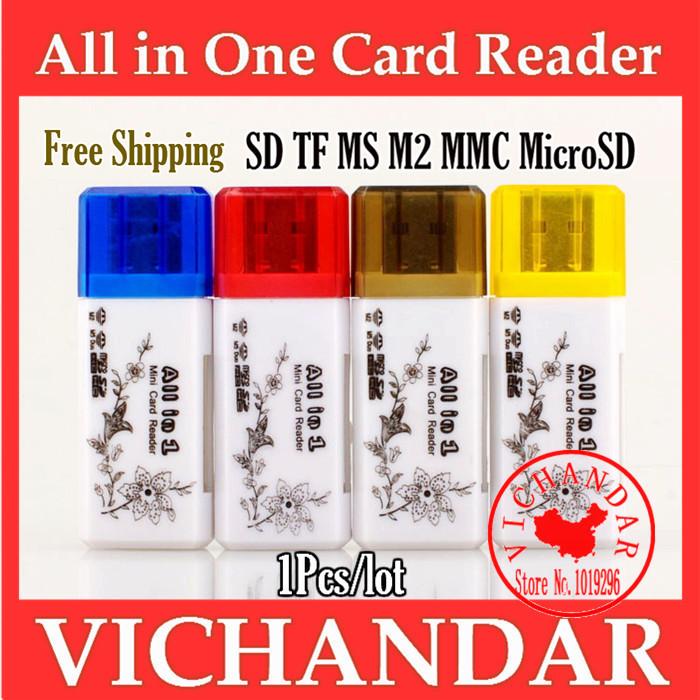 ordinateur portable Microsd usb adapter sd card reader memory stick micro m2 tf ms mmc internal card reader all in 1 card-reader(China (Mainland))