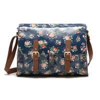 Double buckle waterproof vintage messenger bag messenger bag oilcloth saddle bags