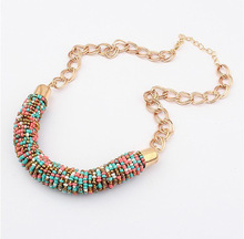 wholesale choker vintage jewerly bead Necklaces & Pendants fashion colar exaggerated statement necklace for women 2014