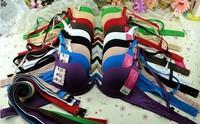 Glossy seamless u super low-cut racerback bra
