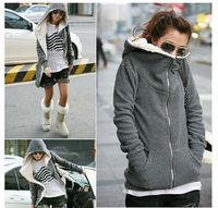 2014 Winter Women Hoodie Coat Zip Up Outerwear Warm Jackets/Coats for Women Sport sweatshirt