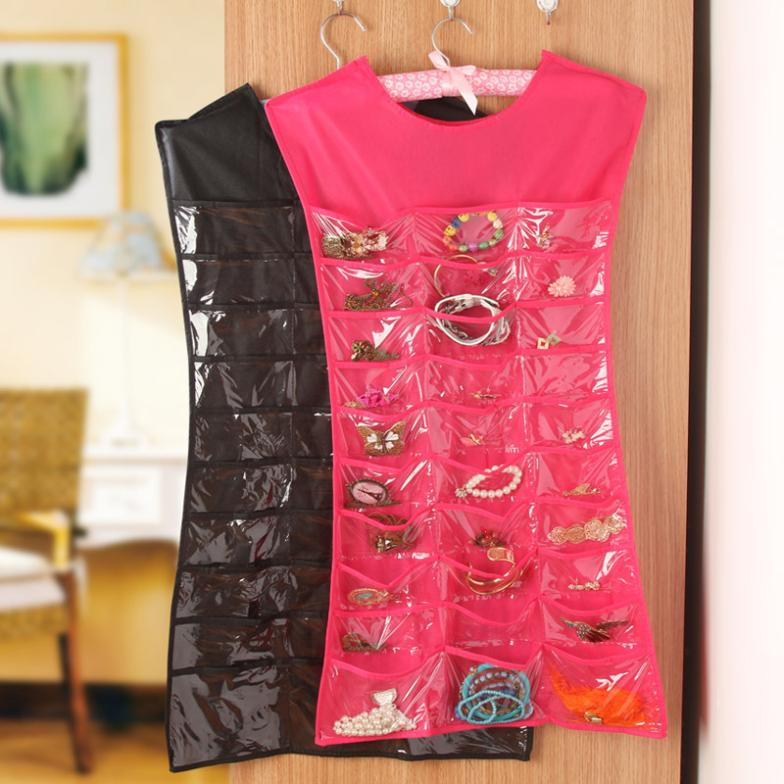 Personalized jewelry show small parts storage Guadai debris hanging on the wall Storage Bag K1648