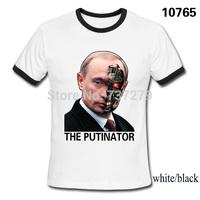 Summer Fashion Russian President Vladimir Putin avatar T shirts Men 100% Cotton Shorts Sleeve Tops Tees Casual Tshirts Camisa