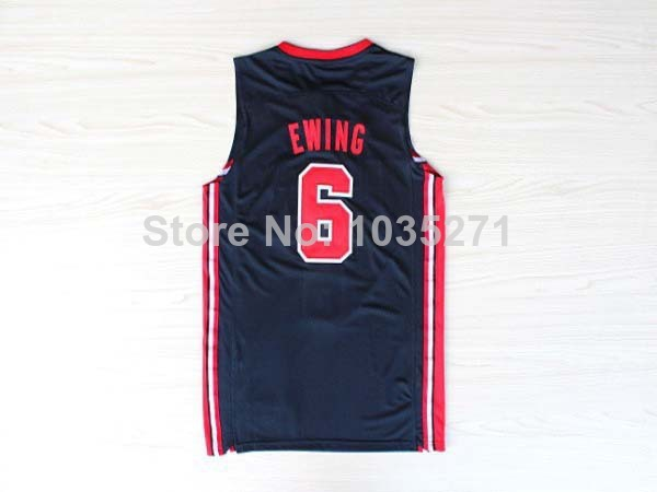 Best Sale Jerseys Online #6 Patrick Ewing Jersey,1992 USA Olympic Games Accept mix order Free Shipping(China (Mainland))