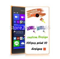 custom design logo printing plastic pc cover hard case for nokia lumia 730 / 735 Coque Etui Housse free dhl 100pcs mix 10