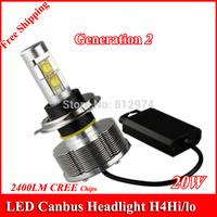 Free Shipping G2 Generation 2 Car CREE LED H4HI/lo 30W 2800LM Headlight/Headlamps/Bulbs  6500K