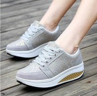 Free shipping Hot Sales,Women Sneakers Bodybuilding Shoes Platform Health Sports Shoes Lose Weight shoes s shoes women's boots