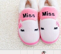 Slippers plush bag with warm winter cotton padded shoes waterproof thick soled boots and women lovers