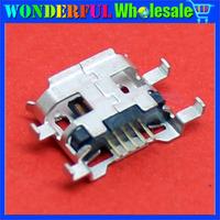 Free Shipping 100pcs Micro USB 5P,5-pin Micro USB Jack,5Pins Micro USB Connector Tail Charging socket