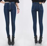 cotton Denim pants Stretch jeans women's Elastic pants | Fashion famous brand 26-31 yards hot selling pants for women,B2754