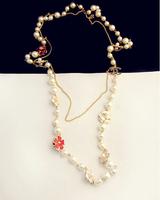 2014 new Korean temperament ladies fashion romantic retro sweet personality upscale pearl sweater chain necklace    7045