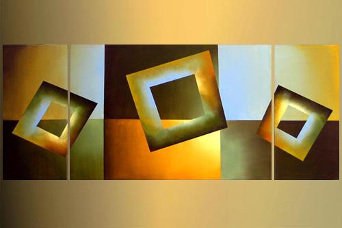 Livraison gratuite peint la main peinture abstraite for Technique de peinture murale a l eponge