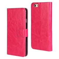 Hot Selling PU Leather Wallet Flip Case Cover for iPhone 6 plus