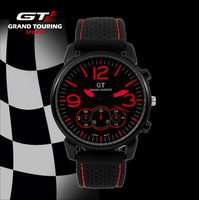 New Arrival GT Men Racing Sports Crazy Sales Watch Cool Quartz Military Army Casual Gift WristWatch Men