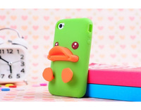 Duckbilled Individuality Silicone Soft Case  with stand for iphone 4/4s  Assorted Colors