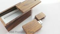 Brown Walnut Wooden 1GB 2GB 4GB 8GB 16GB 32GB 64GB USB Flash Drive Wooden Pen Drive Stick + Wood Gift Case
